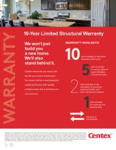 The Centex 10 Year Warranty