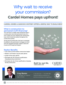 Cardel Homes Pays Up Front!